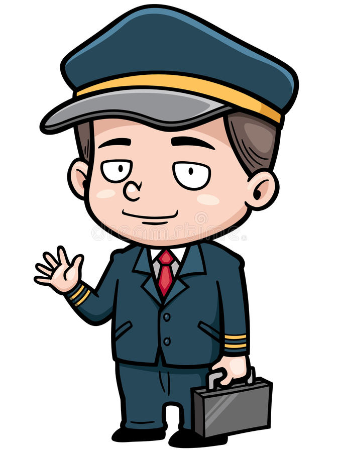 Piloto ilustração stock