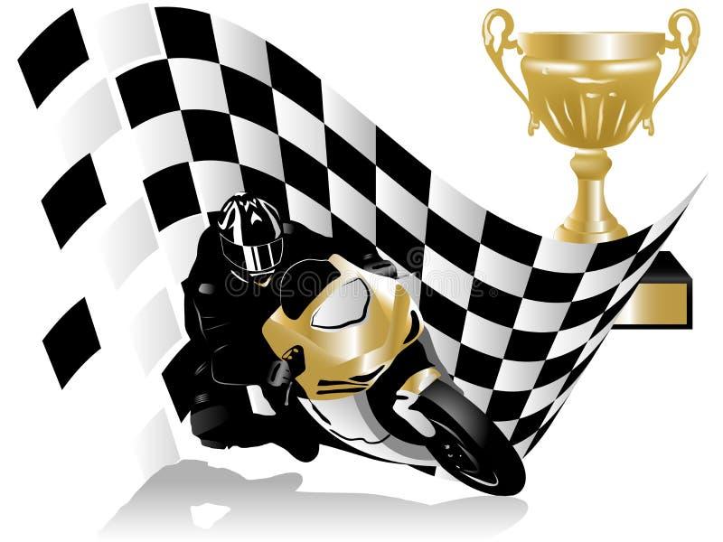 Piloto da motocicleta ilustração royalty free