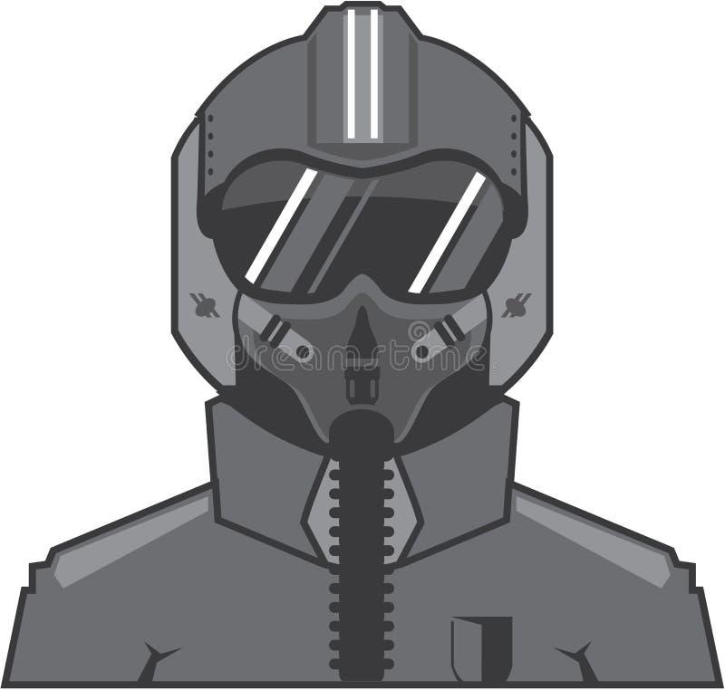 Piloto de avião de combate ilustração stock