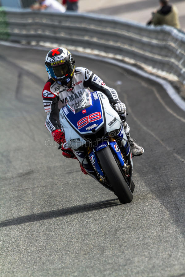 Piloto de Jorge Lorenzo de MotoGP imagem de stock royalty free