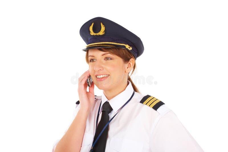 Piloto de la línea aérea imagenes de archivo