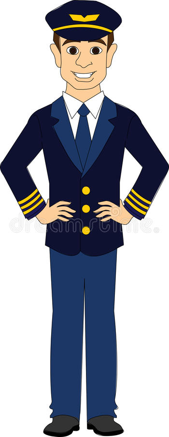 Piloto de la línea aérea comercial libre illustration
