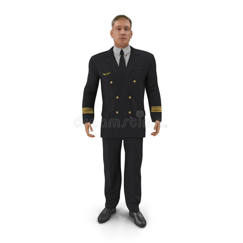 Piloto de la línea aérea en blanco ilustración 3D libre illustration