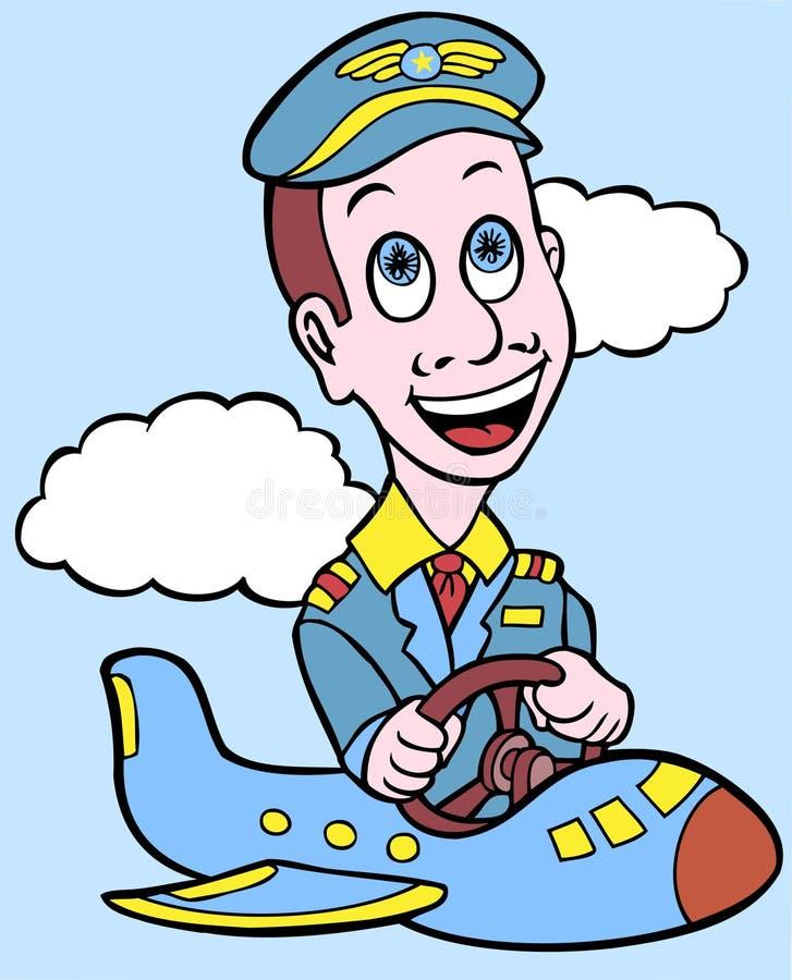 Piloto de la línea aérea en un plano minúsculo libre illustration