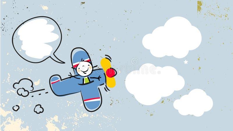 Piloto de la muchacha libre illustration