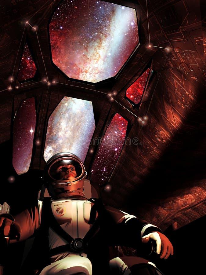 Piloto de la nave espacial libre illustration