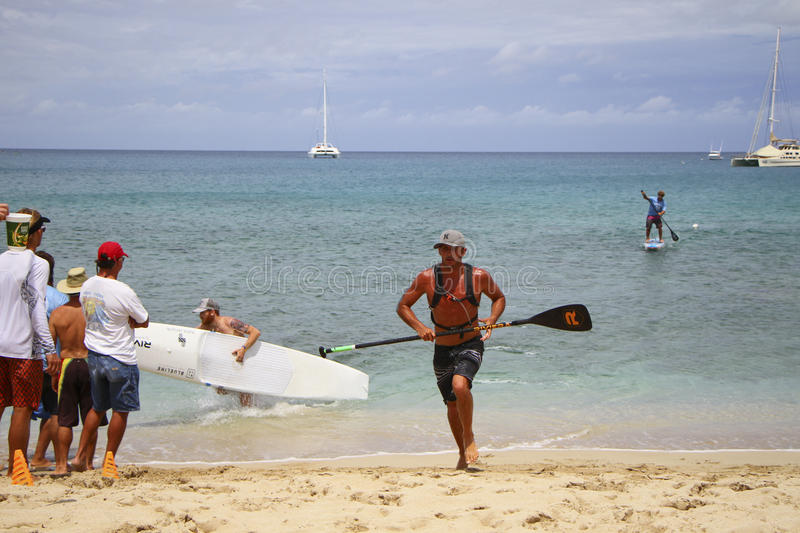 Piloto de Ryan Helm World Paddle Association imagens de stock