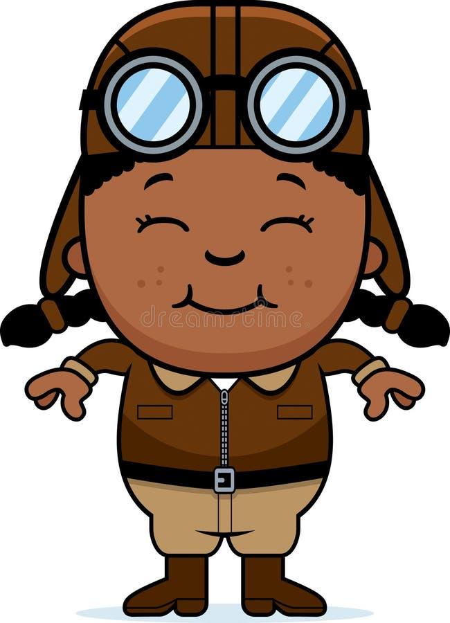 Piloto de sorriso dos desenhos animados ilustração stock