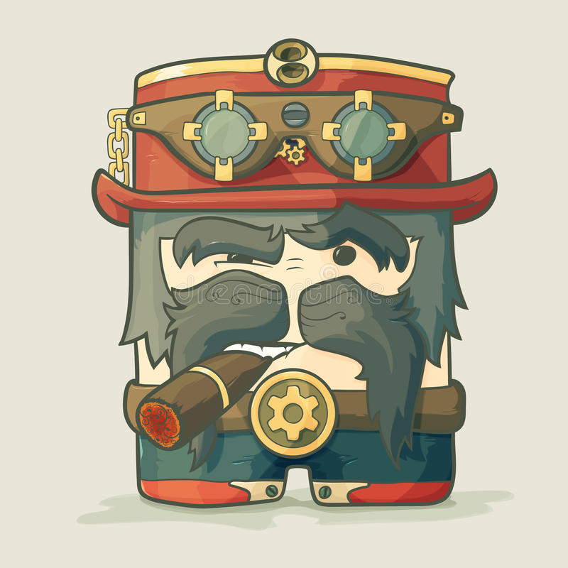 Piloto Dirigible De Steampunk Con Las Gafas Y El Sombrero ...