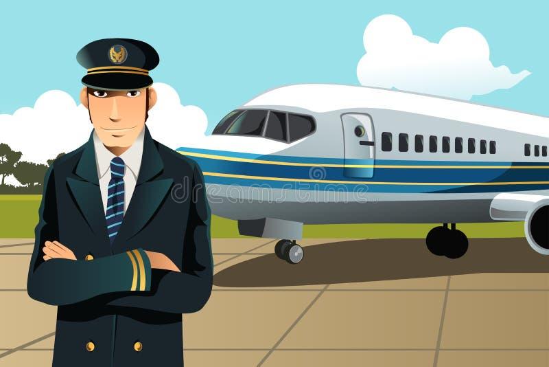 Piloto do avião ilustração royalty free