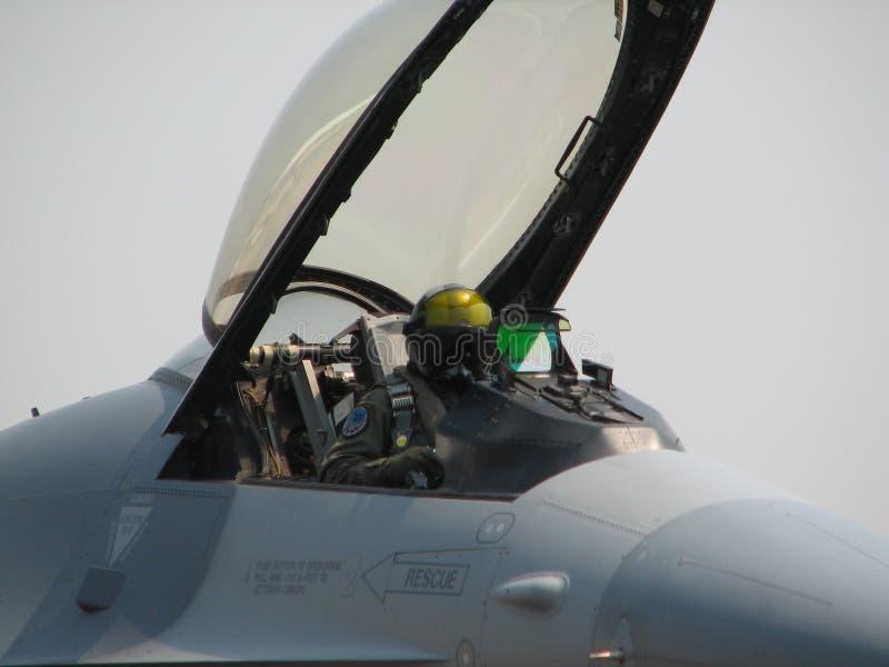 Piloto do avião de combate fotografia de stock royalty free