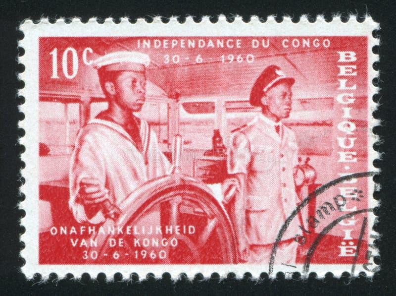 Piloto do barco do Rio Congo imagens de stock royalty free