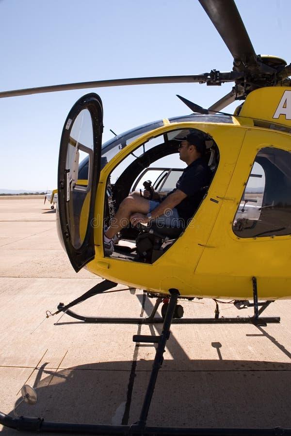 Piloto do helicóptero fotos de stock