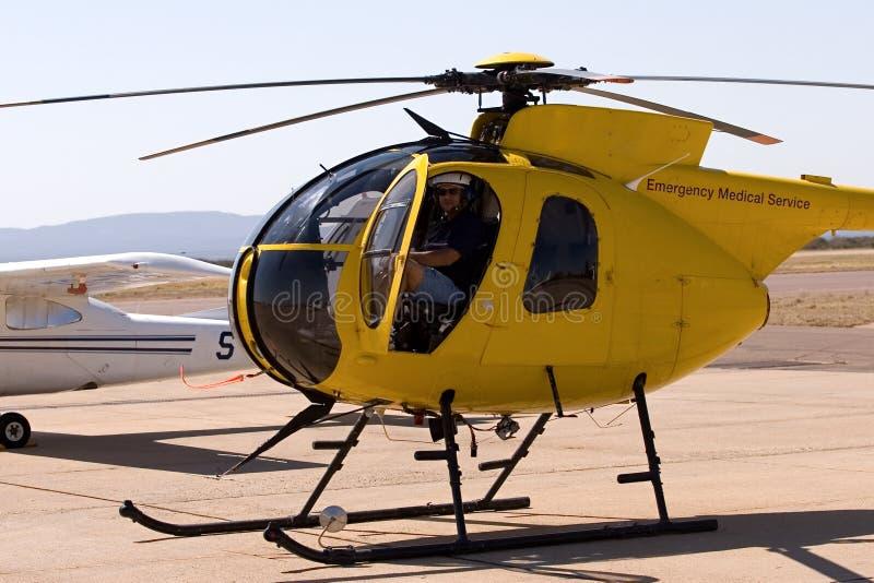 Piloto do helicóptero fotografia de stock