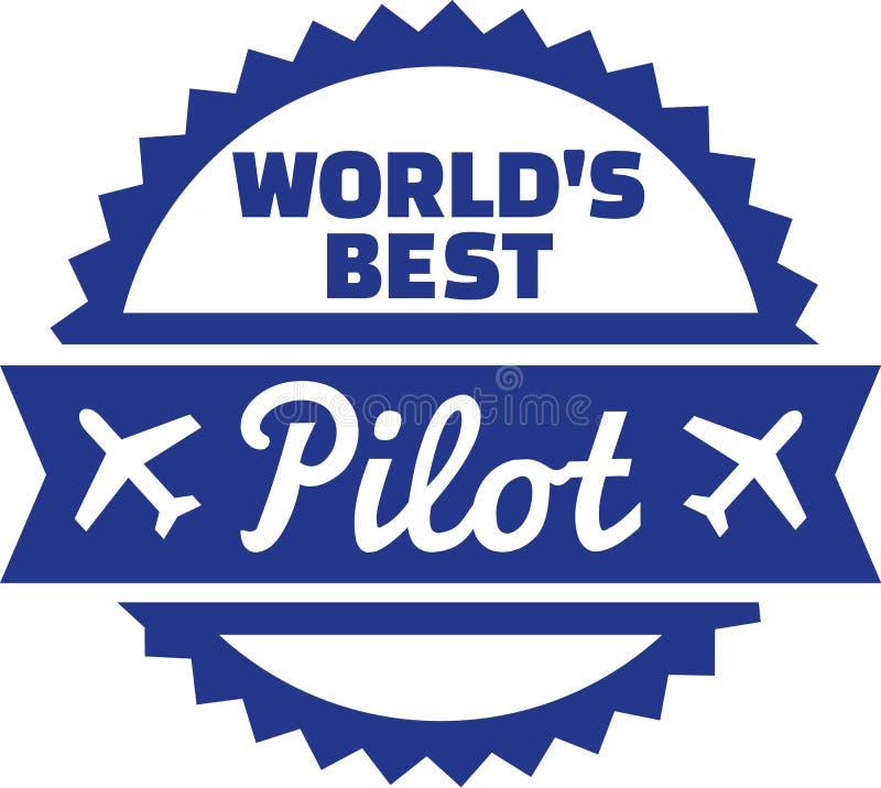 Piloto do ` s do mundo o melhor ilustração do vetor