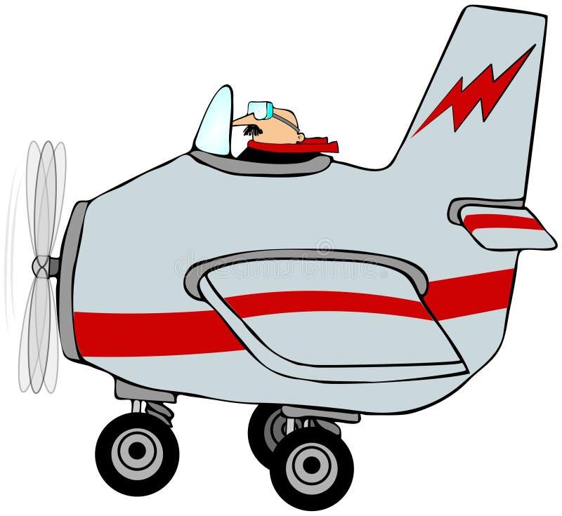Piloto en un aeroplano libre illustration