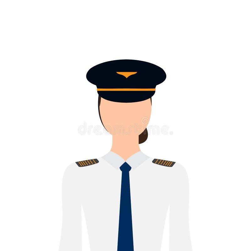 Piloto fêmea isolado ilustração stock