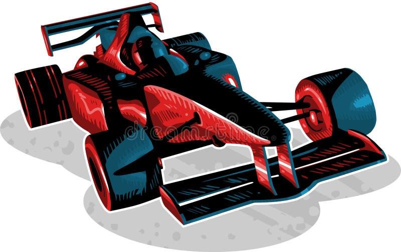 Piloto F1 ilustração stock