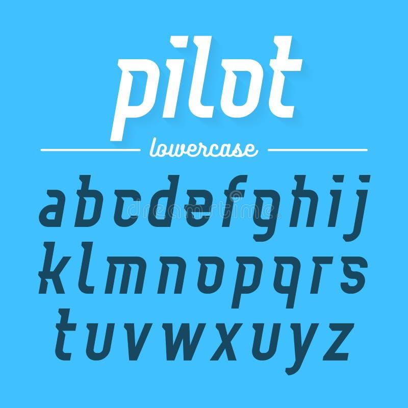 Piloto, fonte moderna ilustração do vetor