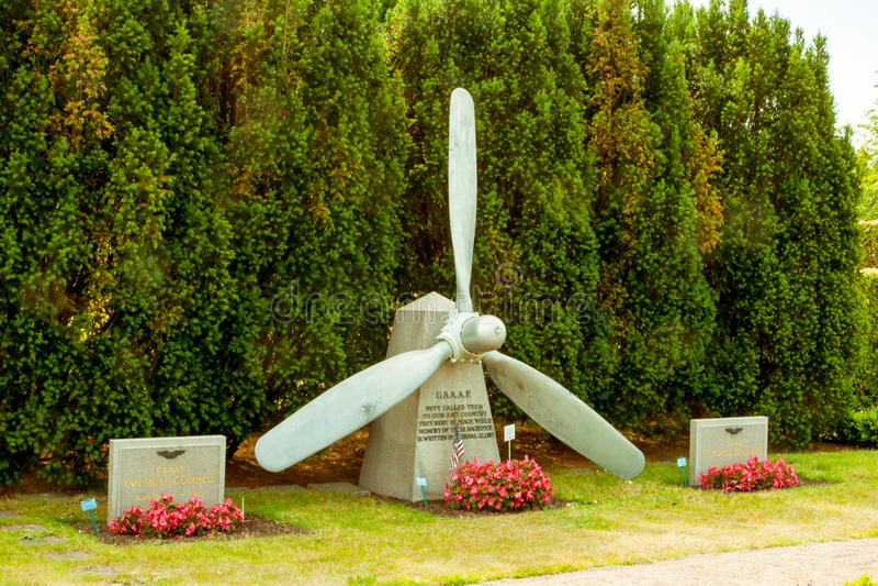 Piloto inglés y americano Memorial en Malmö Suecia foto de archivo libre de regalías