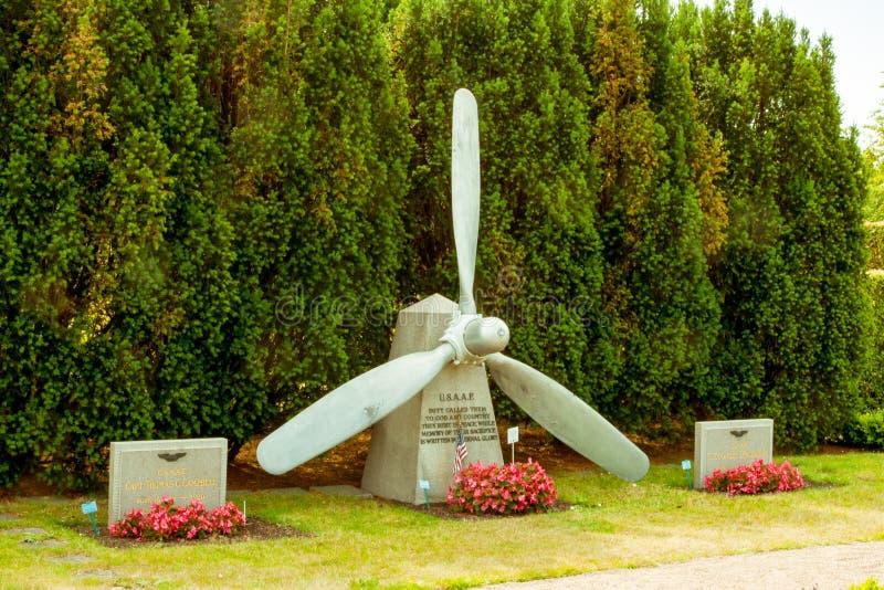 Piloto inglês e americano Memorial na Suécia de Malmo foto de stock royalty free