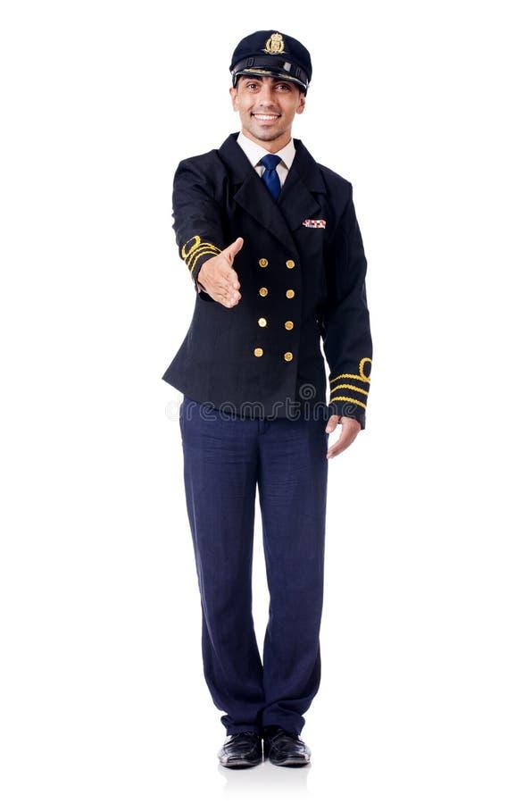 Piloto joven foto de archivo