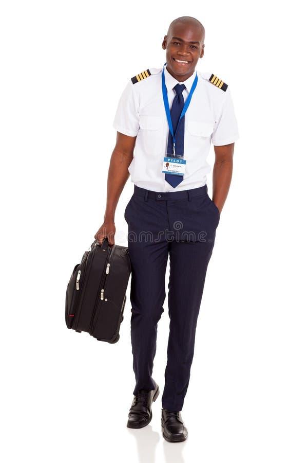 Piloto joven de la línea aérea imagen de archivo