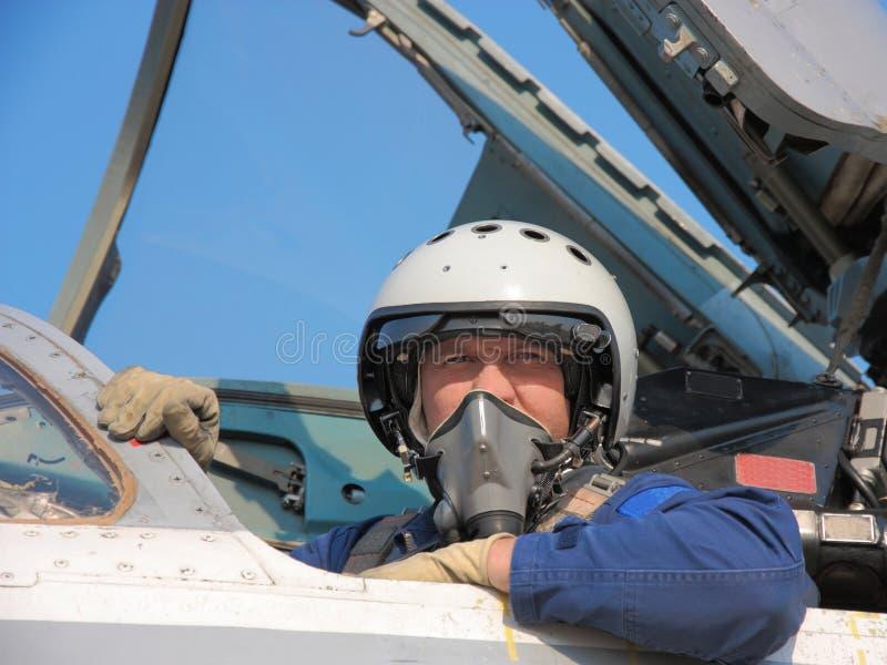 Piloto militar imágenes de archivo libres de regalías