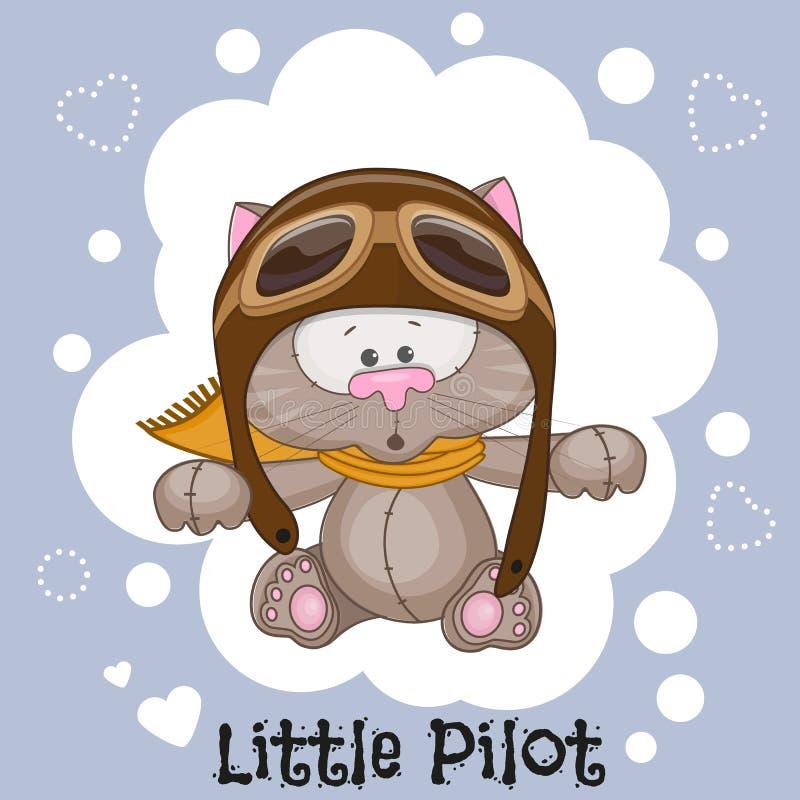 Piloto pequeno ilustração royalty free