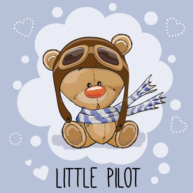 Piloto pequeno ilustração stock