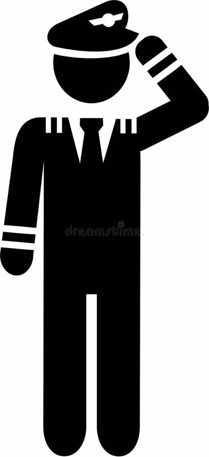 Piloto Pictogram Symbol ilustração do vetor