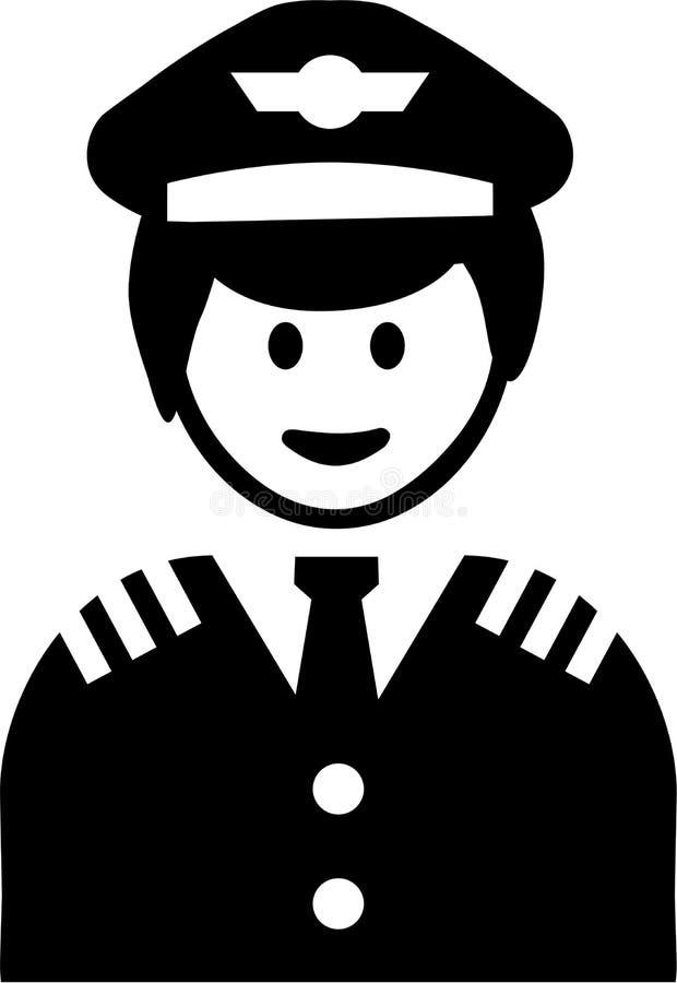 Piloto Pictogram Symbol ilustração stock