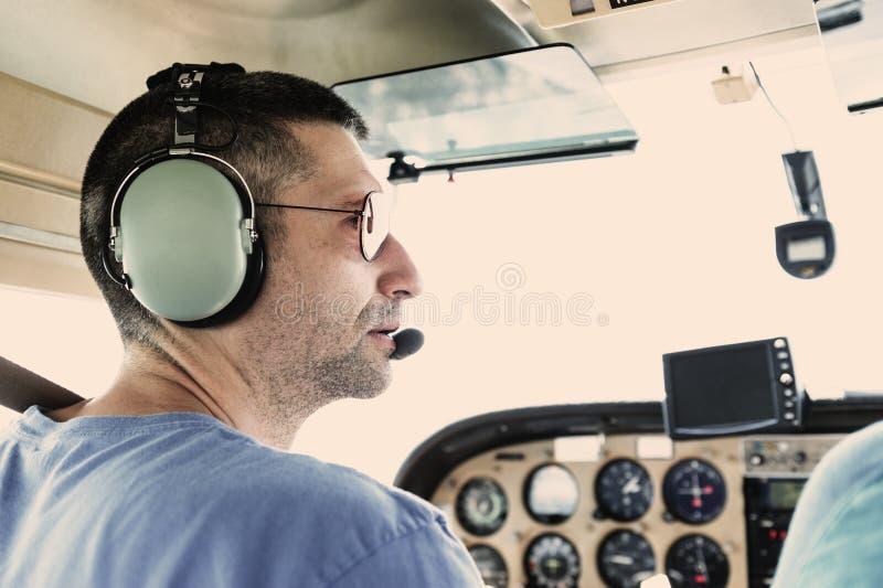 Piloto plano pequeno foto de stock