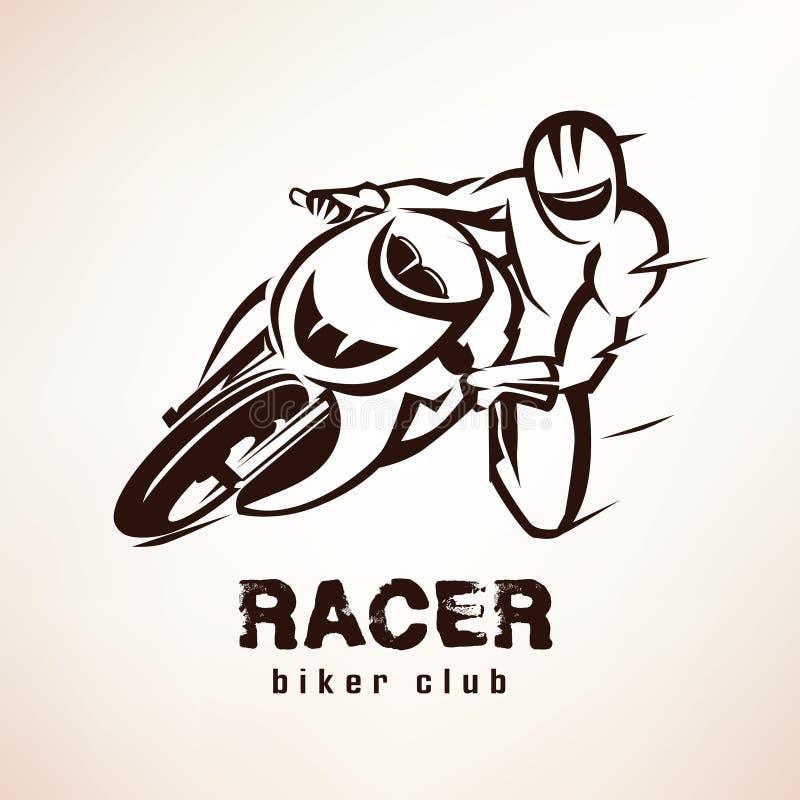 Piloto, símbolo da bicicleta do esporte ilustração royalty free