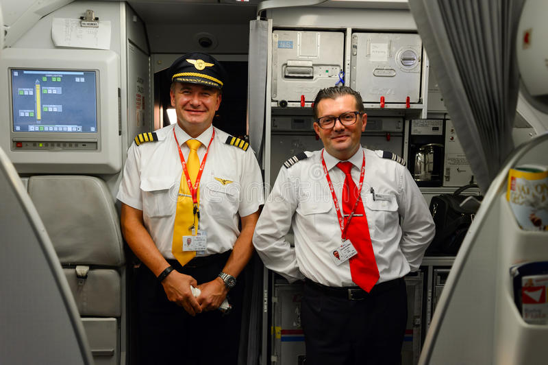 Pilotos de Czech Airlines foto de stock royalty free