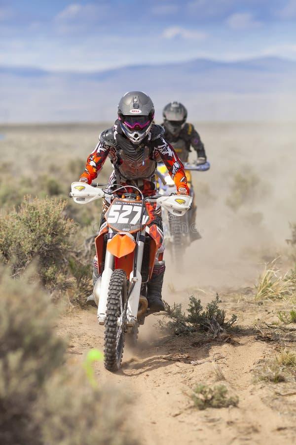 Pilotos de Dirtbiker foto de stock