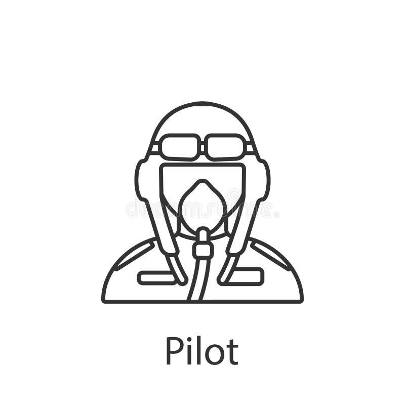 Pilotowa ikona Element zawodu avatar ikona dla mobilnych pojęcia i sieci apps Szczegółowa Pilotowa ikona może używać dla sieci i  royalty ilustracja