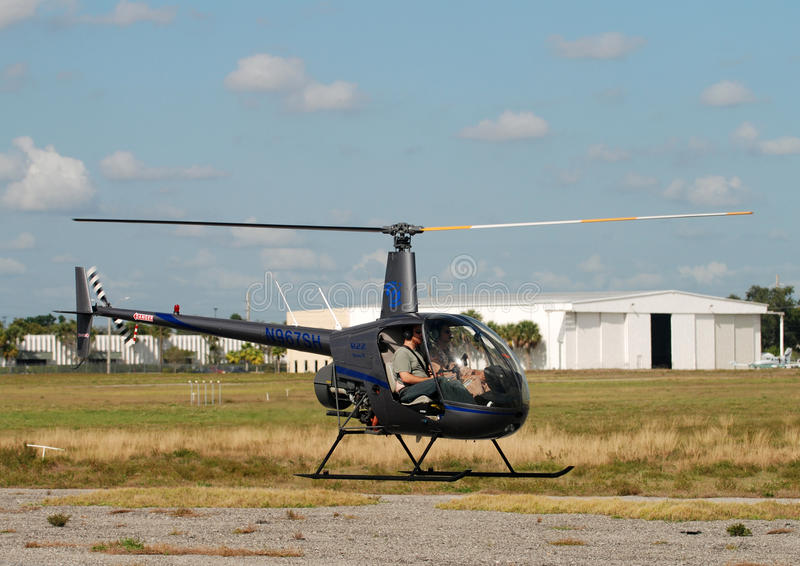 pilotowy helikopteru szkolenie zdjęcie stock