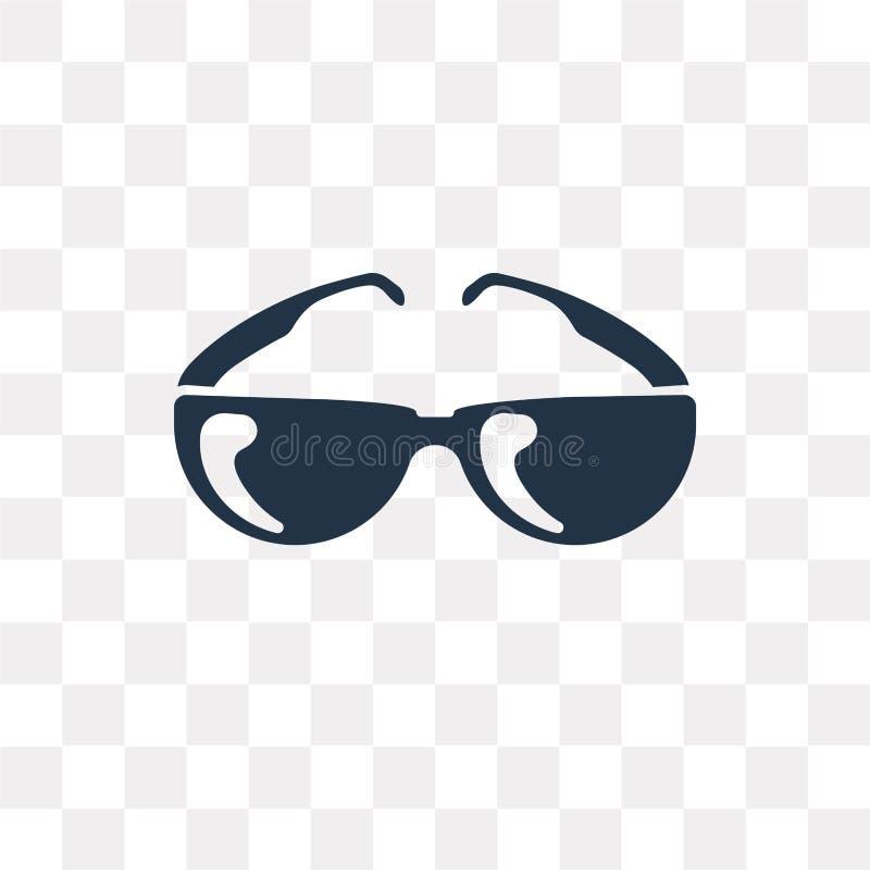 Pilotowych okularów przeciwsłonecznych wektorowa ikona odizolowywająca na przejrzystym tle, ilustracji