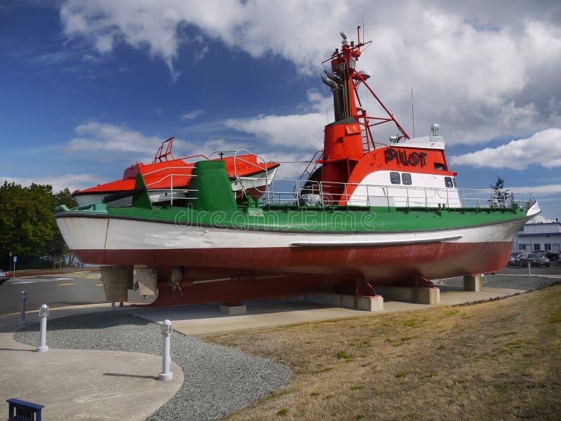 PilotShip Columbia River maritimt museum, Astoria Oregon arkivfoto