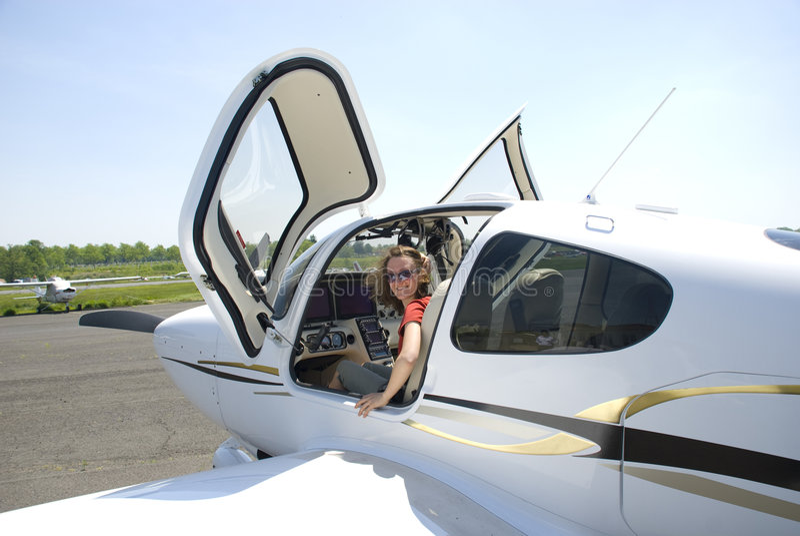 pilotutbildning royaltyfri foto