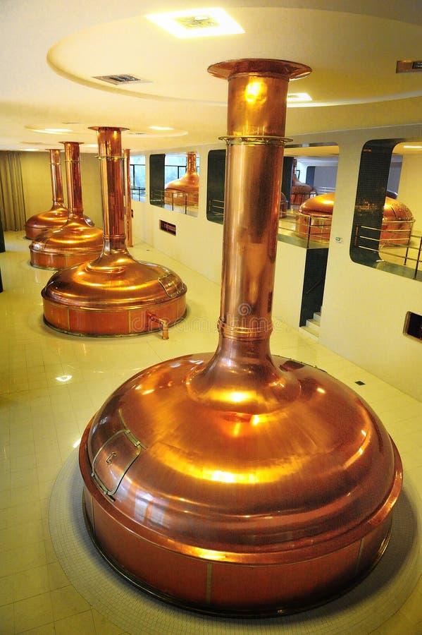 Pilsner Urquell beer brewer hall beer storage. Europe Czech Republic plzen stock photography