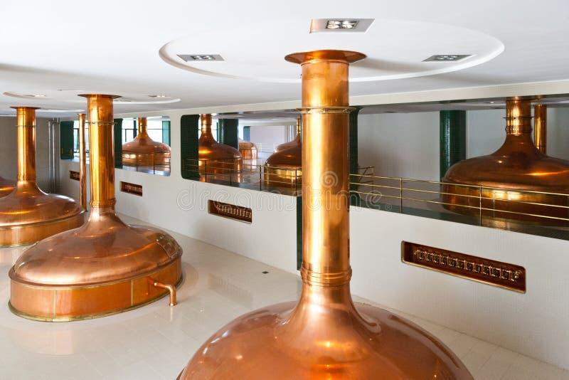 Pilsner Urquell bryggeri från 1839, Pilsen, Tjeckien arkivbilder