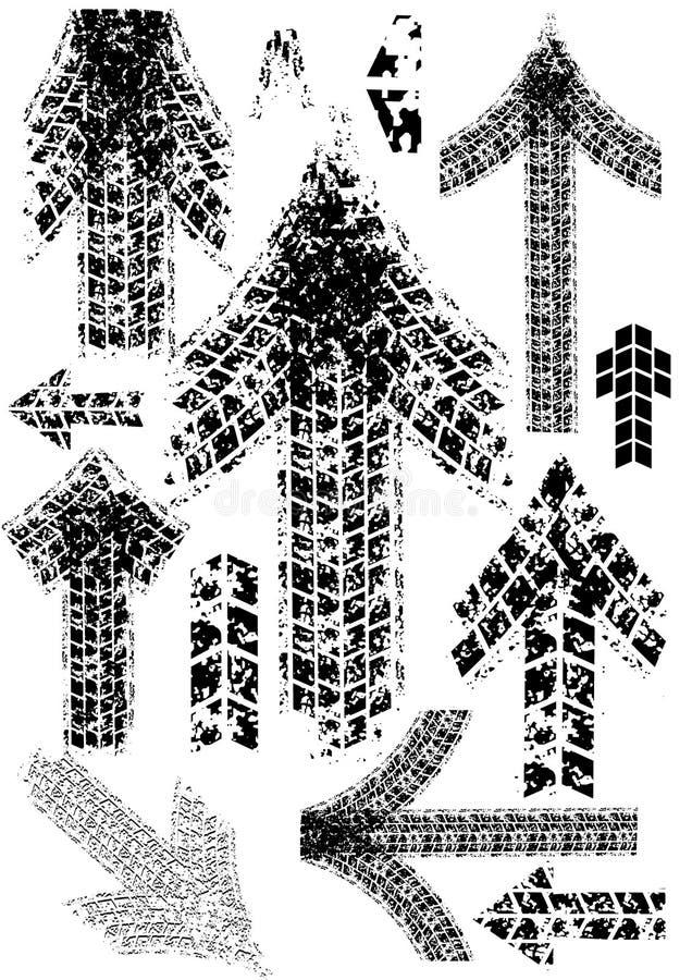 pilspår stock illustrationer