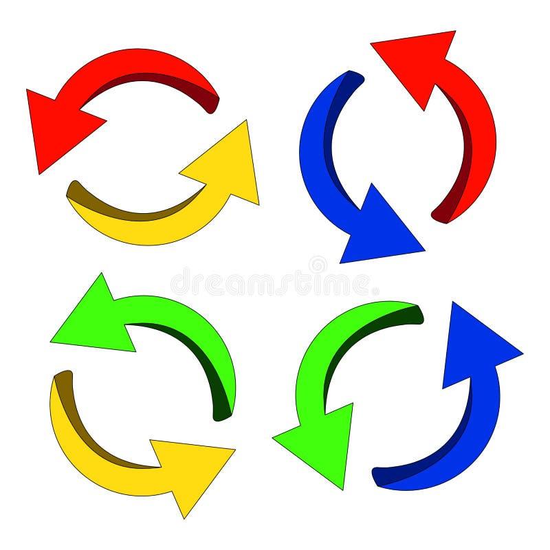 Pilsymbol, färgrik affärsidé för symbolsclipartcirkulering white för vektor för bakgrundsillustrationhaj royaltyfri illustrationer