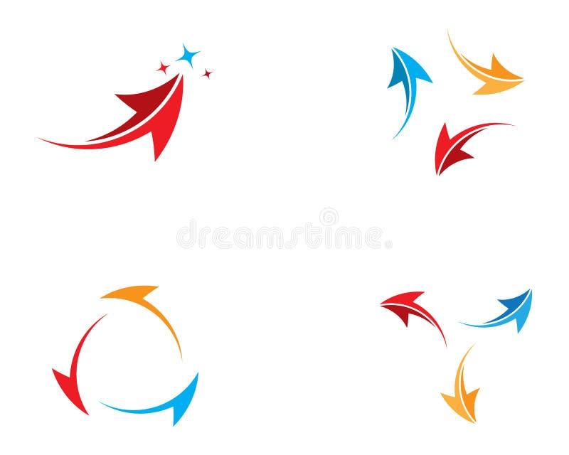 Pilsymbolillustration royaltyfri illustrationer