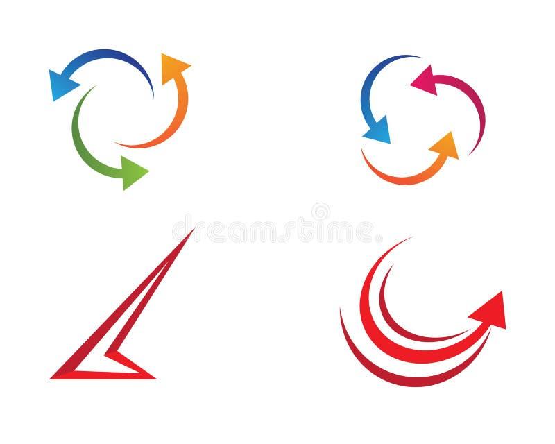 Pilsymbolillustration vektor illustrationer