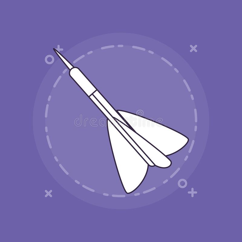 Pilsymbolsbild stock illustrationer