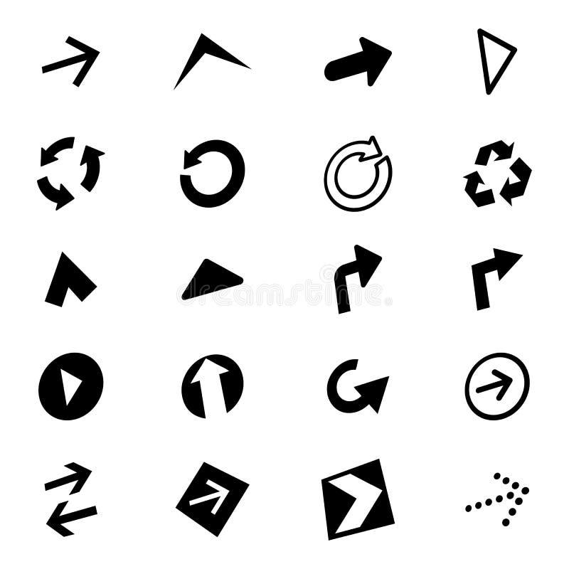 Pilsymbolsuppsättning stock illustrationer