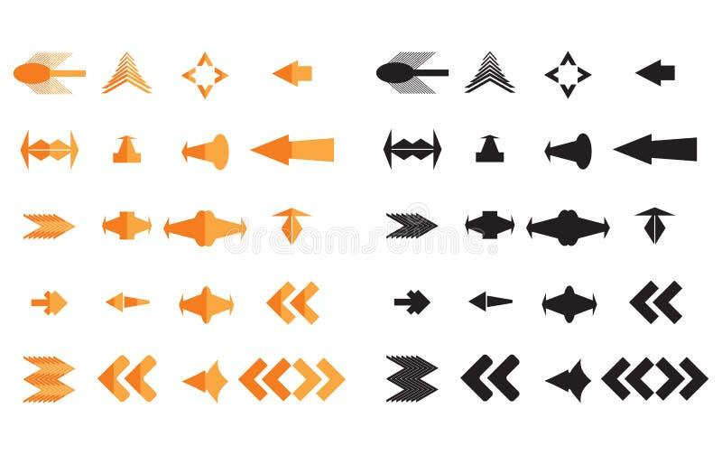 pilsymbolsvektor royaltyfri illustrationer